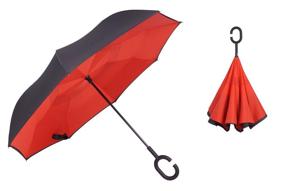 odwracane parasole, odwrócone czy odwrotnie otwierane putup